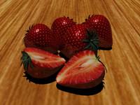 3d model strawberrys