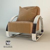 lounge chair hudson street 3d max