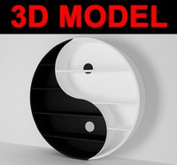 yin-yang bookcase 3ds