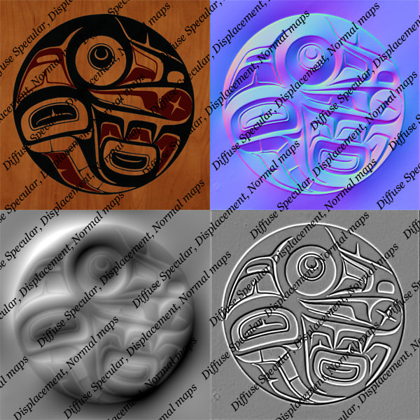 3d model wall decoration aboriginal art - Aboriginal first nation art wall decoration... by Leeift
