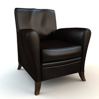 chair armchair black 3ds