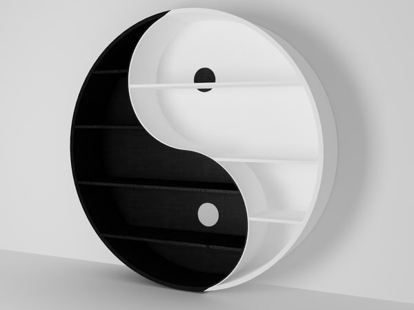Yin yang bookcase 3ds for Yin yang couch