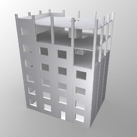 unfinished building 3d model