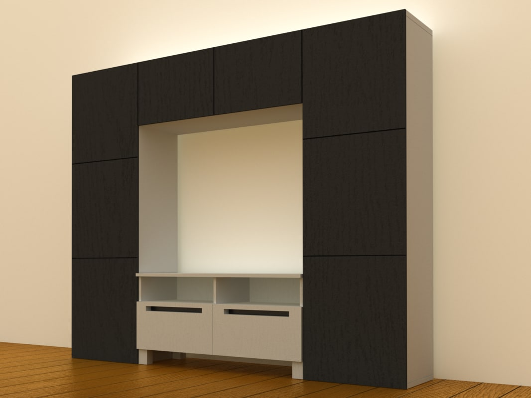ikea besta tv storage 3d model. Black Bedroom Furniture Sets. Home Design Ideas