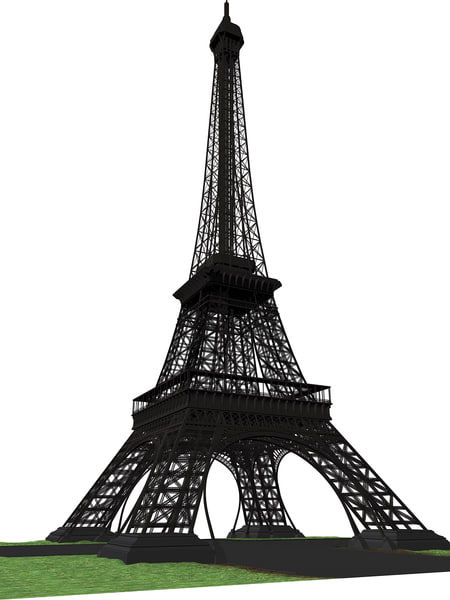 3d eiffel tower model - Eiffel Tower... by Stasma