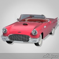 3ds max thunderbird car