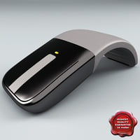 microsoft arc touch mouse 3d c4d