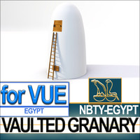 3d ancient egyptian vaulted granary