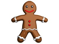 3d gingerbread man ginger model
