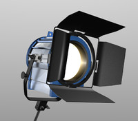 Arri type light on C-stand