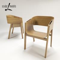 3d berta chair model