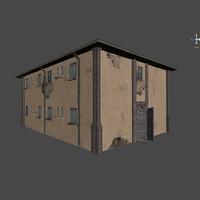 3d house abandoned model