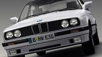 bmw series 3 e30 3d 3ds