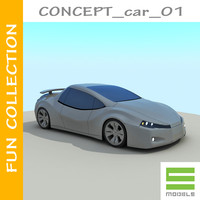 small concept car 3ds