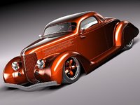 1936 36 coupe antique 3d lwo