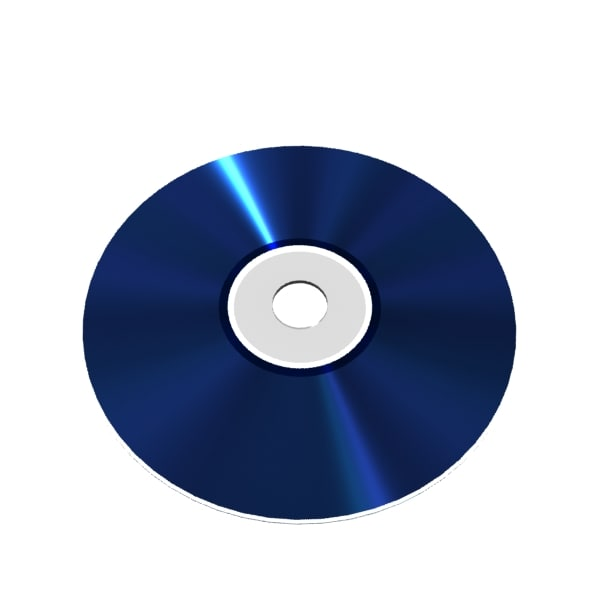 blu-ray disc 3d model - Blu-ray disc... by the_answer