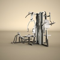 3d max multi gym machine