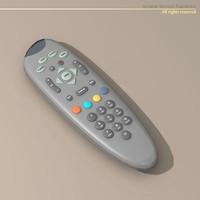 3d model remote tv