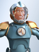 3d model spaceman cartoon man