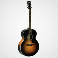 acoustic guitar 3d max