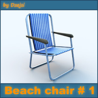 3d model beach chair