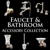 3d lavatory faucet collections model