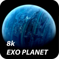 8K Photorealistic Exo Planet