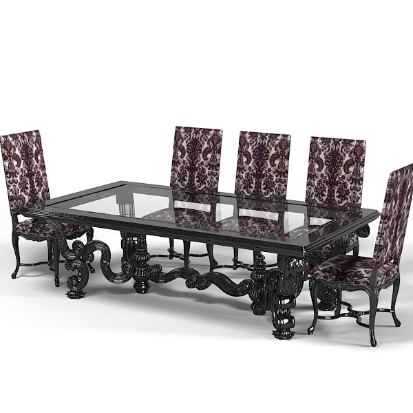 ANGELO Cappellini dining table chair stool set classic luxury baroque glamour glass.jpg