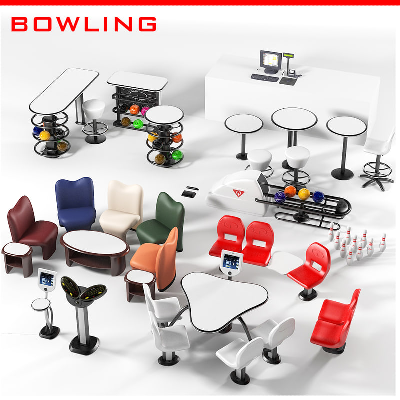 Amf qubica bowling equipment  set collection pos seating return machine scorer touchscreen ball pins chair .jpg
