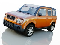 3d model of honda element