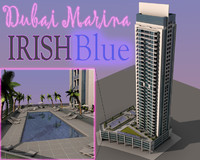 3ds luxury irish blue dubai
