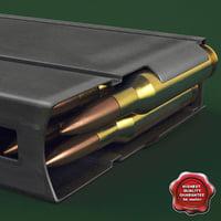 m14 magazine 3d model
