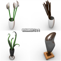ornaments plant 3d model