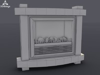 3d stockholm electric fireplace