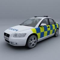 3d model uk police car