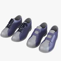 3d model bowling sport shoes
