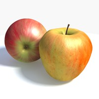 3d color apple model