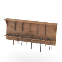3d shelf smithy equipment model
