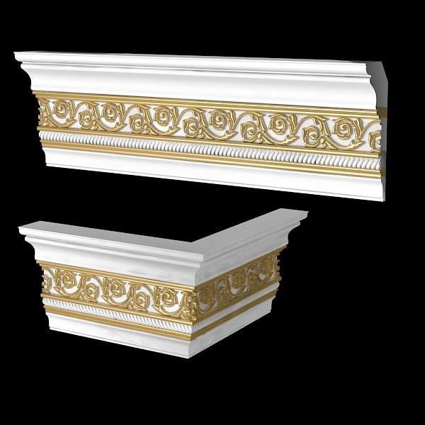 3dsmax classic plaster wooden