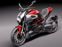 ducati diavel 2011 sport bike 3d model