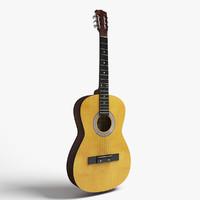 realistic guitar 3d model