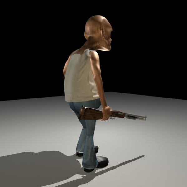 3d model hunter rigged - Old Hunter... by Mangesh Kondalkar