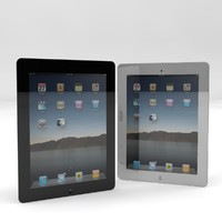 apple ipad 2 black 3d model