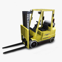 photorealistic forklift hyster 60 3d model