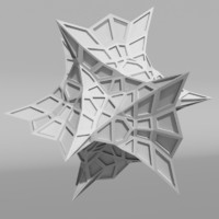 voronoi tessellation abstract c4d