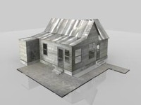 3d old farm house