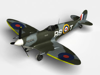 supermarine spitfire mk v 3d model