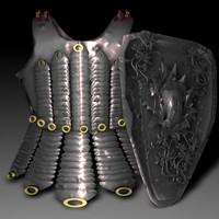 armor torso obj