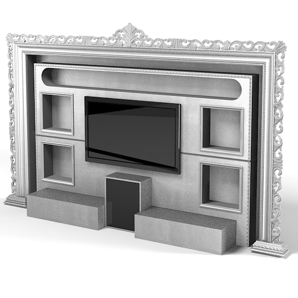 vismara classic baroque tv media entertainment center wall cinema modern contemporary.jpg