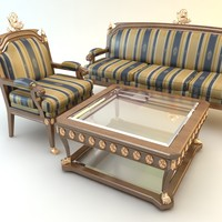 table, chair and divan set
